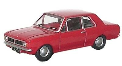 Bnib Oo Gauge Oxford 1:76 76Cor2003 Ford Cortina Mkii Red Car