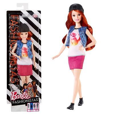 Barbie - Fashionistas 47 - Petite - Doll in Top with Cat Application