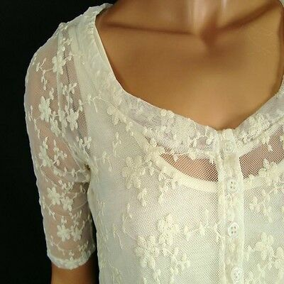 0868694e2f508 ASOS Maternity TOP Blouse Cream Lace Lined Wedding Party Evening BNWT