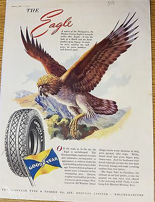 The Eagle Goodyear Tyres Advertising Print 1950