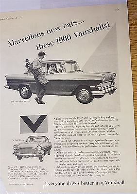 Vauxhall Motoring Advert Print 1959