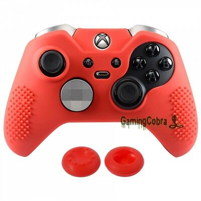 Red Soft Silicone Case Cover Skin Thumb Grips for Xbox One Elite Controller