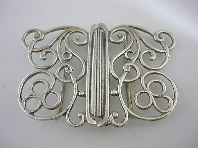 Superb Vintage Art Nouveau Style Sterling Silver Nurses Buckle - 1990 London