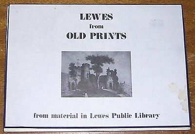 LEWES Sussex England 12 Old Prints from the Public Library Castle Theatre Bridge