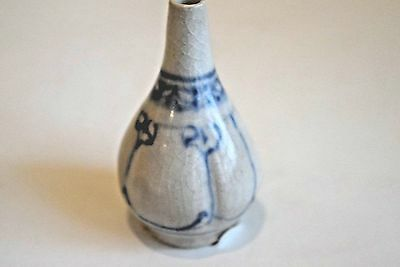Hoi An - 15th Century - Blue White Mini Bottle - Water Dropper - Perfect-339