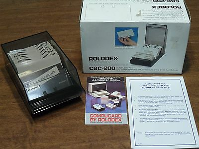 Vintage Rolodex CBC 200 Covered Business Card File Box 100 Cards New in Box