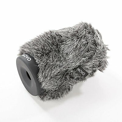 Movo WS-G100 Furry Rigid Windscreen for Microphones 18-23mm in Diameter