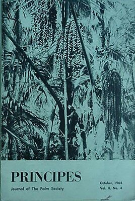 1964 Journal Of The Palm Society - Principes (Now Palms)