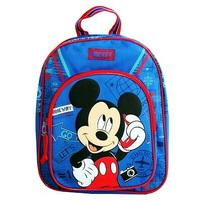 Micky Maus - Kinder Rucksack - Let's Go Mickey Mouse - Farbe blau 31x25x12cm