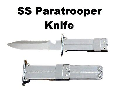 "Stainless Steel 9+"" SS Parachute Folding Combat Pocket Knife - Fast Shipping!"