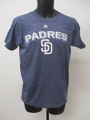 New San Diego Padres Mens Sizes S//M//L Gray Majestic Shirt MSRP $26