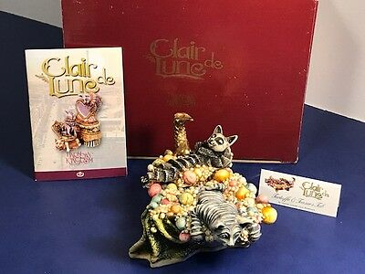 Harmony Kingdom Original Box Figurine Clair De Lune Tartuffe Teaser Cat Barucha