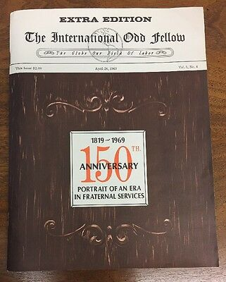 "Extra Edition ""The International Odd Fellow"" 150th Anniversary 1969 Booklet"