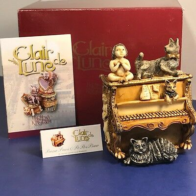 Harmony Kingdom Original Box Figurine Clair De Lune Piano Peezer Paws Po Cat 1