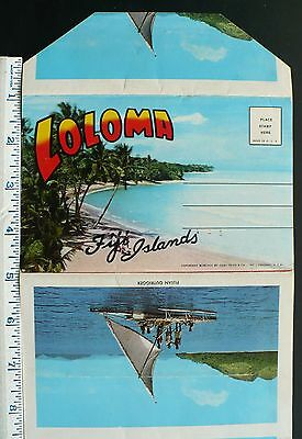 1968 Loloma Fiji Crown Colony, Map, Sugar Train, Sweet Meat Vendors, Children