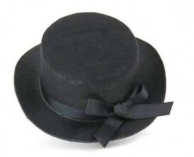 """Lovvbugg Black Hat with Ribbon for 18"""" American Girl Doll Accessory"""