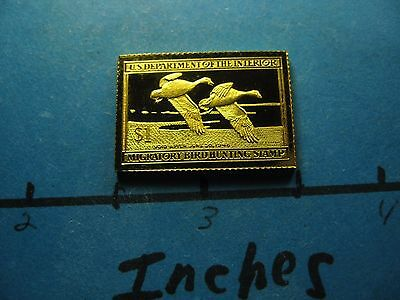 Snow Geese 1947-1948 Migratory Stamp Commemorative Mini Silver Gold Bar #b