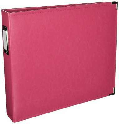 American Crafts We R Memory Keepers Classic Faux Leather Scrapbook Album D-Ring