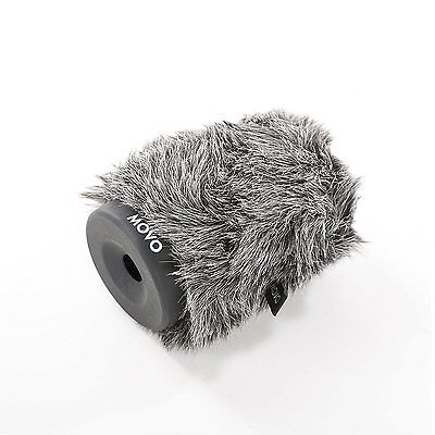 Movo WS-G80 Furry Rigid Windscreen for Mics 18-23mm in Diameter and up to 3.1""