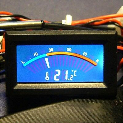 Digital LCD C/F PC MOD Thermometer Temperature Meter Gauge Panel Mount New