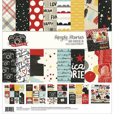"Simple Stories Collection Kit - SAY CHEESE III - 12x12"" papers + stickers"