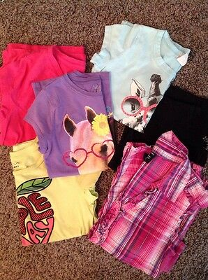 Girls Tshirts Play Clothes Black Green Pink Blue Purple Giraffe Horse  7/8 10/12