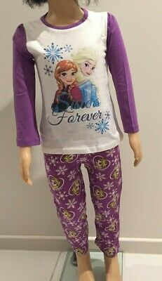 Authentic Disney Frozen Girls Pyjamas Pj's Sleepwear Sizes 4-8