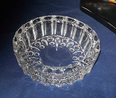 vintage MALAYSIA CLEAR GLASS ASH TRAY OR CANDY DISH