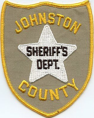 old vintage JOHNSTON COUNTY NORTH CAROLINA NC SHERIFF POLICE PATCH