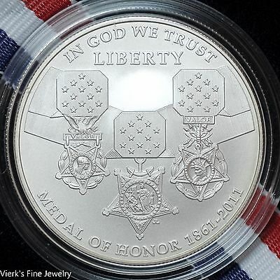 2011 Medal of Honor Commemorative Coin 900 Silver Dollar Limited Mint UNC