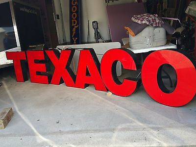 TEXACO Gas Service Station Back Lit Neon Sign LARGE - PICK UP ONLY