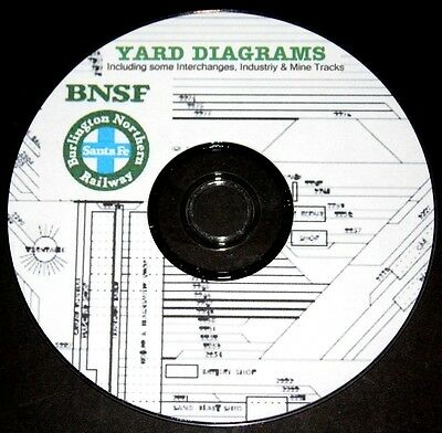 Burlington Northern Santa Fe 440 BNSF Yard Diagrams - PDF Pages on DVD