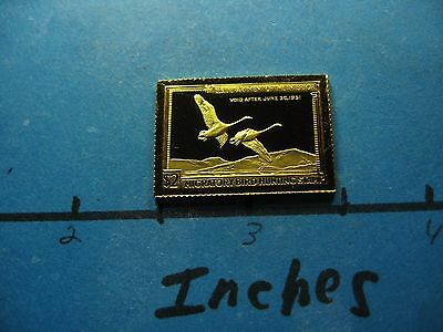 Trumpeter Swans 1950-1951 Migratory Stamp Commemorative Mini Silver Gold Bar #b