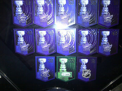 TORONTO MAPLE LEAFS Team Set Molson Coors Budweiser Panini Stanley Cup Banners