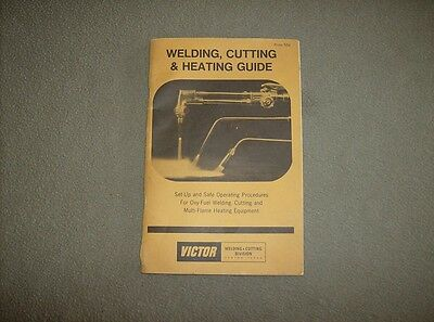 Vintage 1977 Victor 60 page welding cutting and torch heating informational book