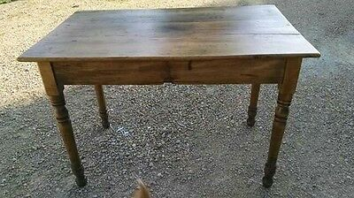 Antique Pine Harvest Table Small Farm Kitchen Table Side Table
