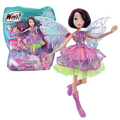 Winx Club - Butterflix Fairy - Tecna Doll 28cm with Magic Robe