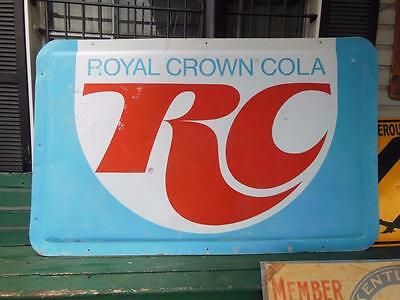 "LARGE ROYAL CROWN RC COLA SODA ADVERTISING SIGN METAL GENERAL STORE 76""x48"""