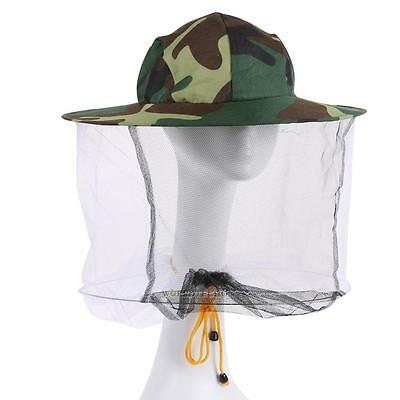 Hunting Fishing Camping Fabric Head Net Protect Hat Insect Bug Bee Mesh Mosquito