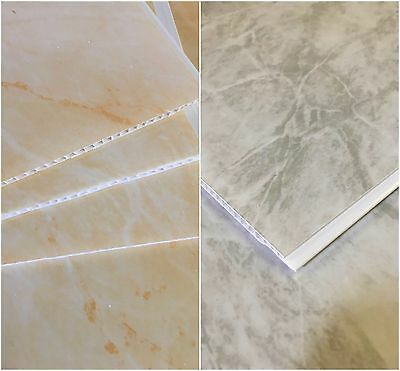 Grey Marble Beige Marble Bathroom PVC Panels Shower Wet Wall Ceiling Cladding!