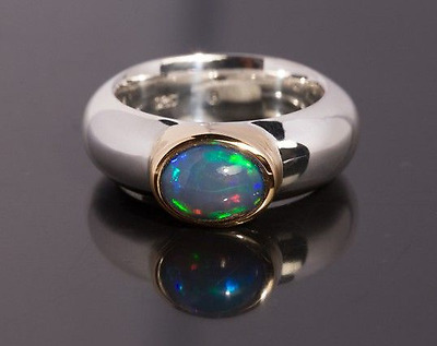 ring s925 gg333 feuriger voll opal goldschmiede LIDDY & MAGDALENA © 16,15g  18,5