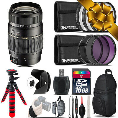 Tamron 70-300mm Lens for Canon + Macro Filter Kit & More - 16GB Accessory Kit
