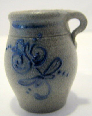 Miniature Rowe Pottery Floral Vase With Handle