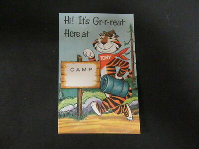 Kellogg's  Boy Scout Camp Post Card, Tony the Tiger, 1960s    c6