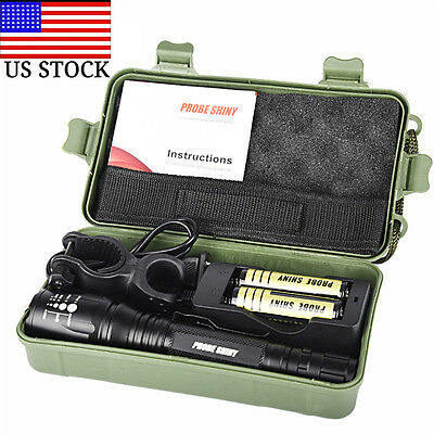 8000LM G700 X800 CREE XM-L2 T6 LED Zoom Tactical Military Flashlight Torch Set