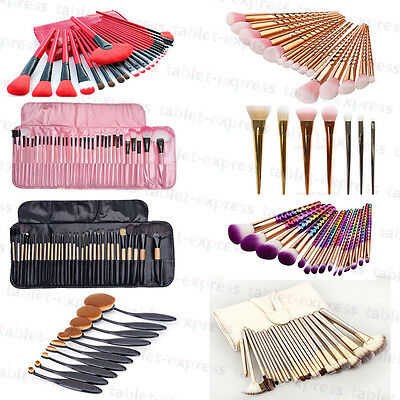 Professional Makeup Brushes Cosmetic Tool Kit Eyeshadow Powder Brush Set US Ship