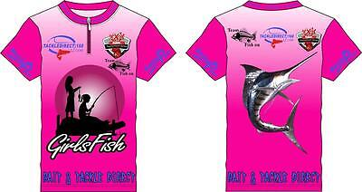Children's Girlz Fishing Tournament Shirts(Support That Girls Fish Too) Speical
