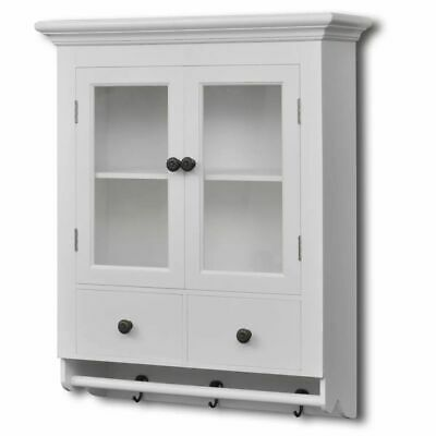 New White Wall Kitchen Cabinets Wooden Hooks Door Drawer Decor Shelves Storage