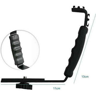 Photography Video Flash Camera L Bracket Holder With 2 Standard hot shoe Mount