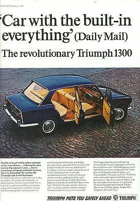 1968 Triumph 1300 Colour Magazine Advert